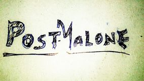 Posten Malone vektor abbildung