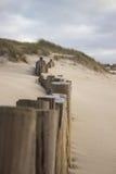 Posten op strand Royalty-vrije Stock Afbeeldingen
