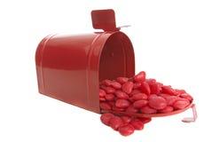 Postend de dagsuikergoed van de valentijnskaart Stock Foto's