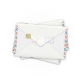 Postenveloppen royalty-vrije illustratie