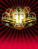 Poster 01 do partido imagem de stock