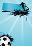 Poster 3 do futebol Fotografia de Stock Royalty Free