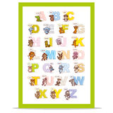 Poster ABC ZOO Alphabet Letters Stock Photography