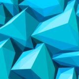 Poster with abstract blue ice cubes. And posterized colors royalty free illustration