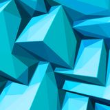 Poster with abstract blue ice cubes. And posterized colors vector illustration