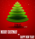 Poster with abstract X-mas tree. Vector illustration EPS10 Stock Photography