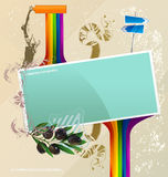 Poster abstract vector banner Stock Photography