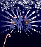 Poster abstrato do concerto do Natal do vetor Fotografia de Stock Royalty Free