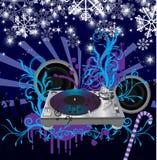 Poster abstrato do concerto do Natal do vetor. Música po Imagem de Stock