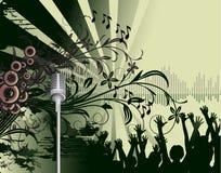Poster abstrato do partido de dança Imagens de Stock