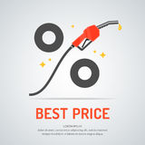 Poster advertising a Discount on fuel. Royalty Free Stock Photo