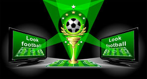Poster for advertising Football championship Royalty Free Stock Photo
