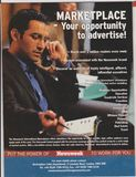 Poster advertising of Newsweek Marketplace in magazine from October 2005, your opportunity to advertise! slogan royalty free stock photo