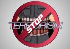 Poster against terrorism Stock Photo
