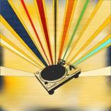 Poster ajustado do DJ Imagens de Stock Royalty Free