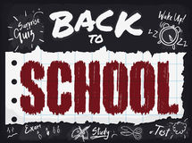 Poster with all Responsibilities of Back to School Season, Vector Illustration. Back to School poster with reminder of all responsibilities, homework, exams and Stock Photos