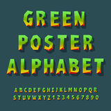 Poster alphabet and numbers Stock Photos
