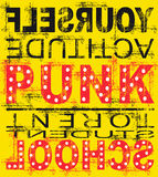 Poster amarelo da música do punk Foto de Stock Royalty Free