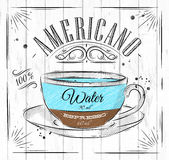 Poster americano Royalty Free Stock Images