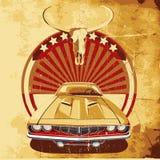 Poster americano II do estilo ilustração royalty free