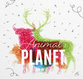 Poster animal planet tangled Stock Image