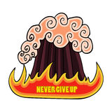 The poster with an appeal Never give up Royalty Free Stock Photography