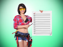 Poster with application form Royalty Free Stock Photos