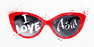Poster asia glasses Stock Photos