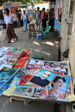 Poster of Aung San and Aung San Suu Kyi Stock Images