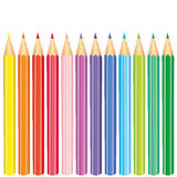 Poster `Back to school` with colored pencils. Vector illustration. Autumn. Education and training.Set of multi-colored pencils. Ve Royalty Free Stock Image