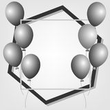 Poster background with balloons. Stock Photos