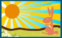 Poster background rabbit children book child concept Royalty Free Stock Photos