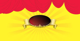 Poster on backgrounds red curtain Royalty Free Stock Photo