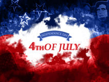 Poster or Banner for American Independence Day. Stock Image