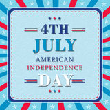Poster or Banner for American Independence Day. Royalty Free Stock Photo