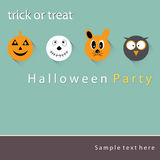 Poster, banner or background Halloween Party Night. royalty free stock photography