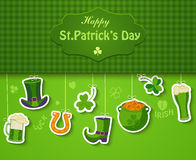 Poster, banner or background for Happy St Patricks day. Poster, banner or background for Happy St Patricks day, vector illustration Royalty Free Stock Photo