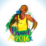 Poster, Banner for Brazil Summer Olympic Games. Royalty Free Stock Photo