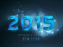 Poster, banner or card for Happy New Year 2015 celebrations. Stock Photography