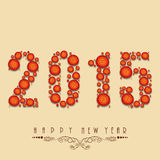 Poster, banner or card for Happy New Year 2015. Stylish poster of Happy New Year with creative text 2015 Stock Photography