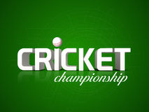 Poster or banner design for Cricket Championship. Stock Image