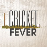 Poster or banner design for Cricket Fever. Royalty Free Stock Images