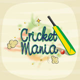 Poster or banner design for Cricket Mania. Royalty Free Stock Photos