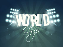 Poster or banner design for Cricket World Cup. Royalty Free Stock Photography