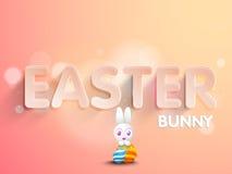 Poster or banner design for Happy Easter celebration. Royalty Free Stock Images
