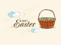 Poster or banner design for Happy Easter celebration. Stock Photography