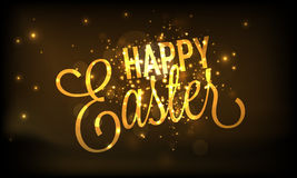 Poster or banner design for Happy Easter celebration. Stock Images