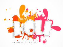 Poster or banner design for Happy Holi celebration. Stock Images