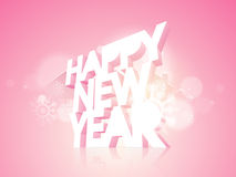 Poster or banner design for Happy New Year 2015 celebration. Beautiful poster or banner design with 3D text Happy New Year on snowflakes decorated pink Stock Images