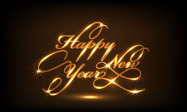 Poster or banner design for Happy New Year 2015 celebration. Royalty Free Stock Images